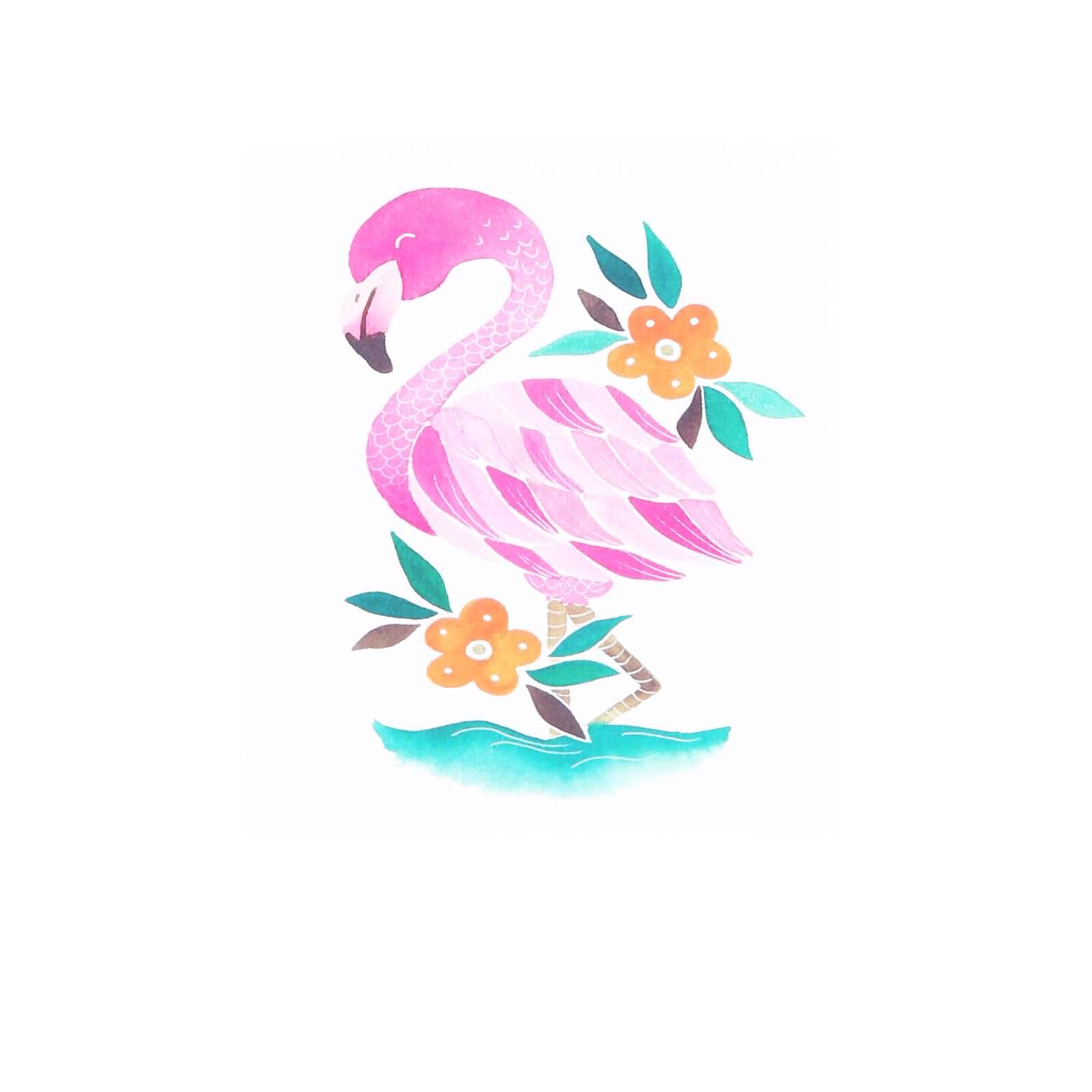 50 Amazing Flamingo Tattoo Designs