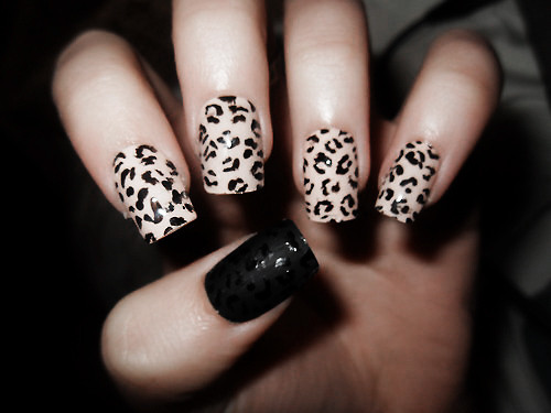 Cute Leopard Print Nail Art Design Idea For Girls