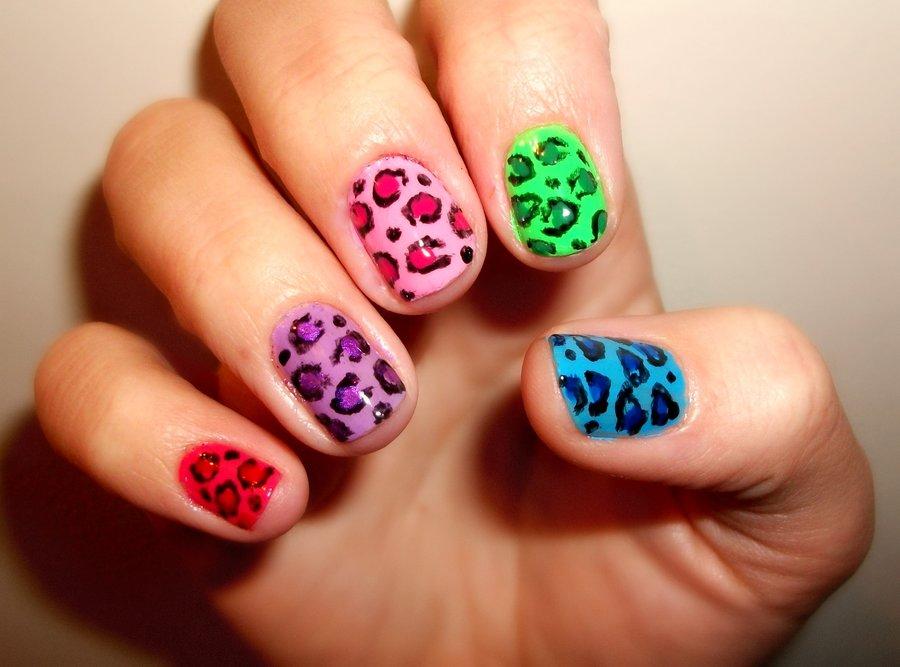 Cute leopard print nail art prinsesfo Images
