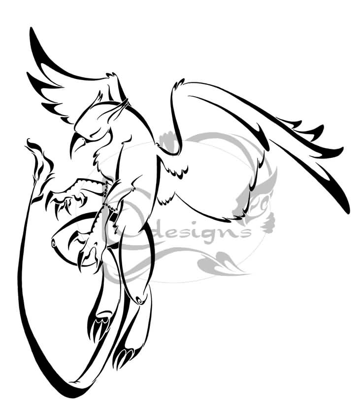 Tattoo Design By Edsonklein Amazing Tribal Griffin