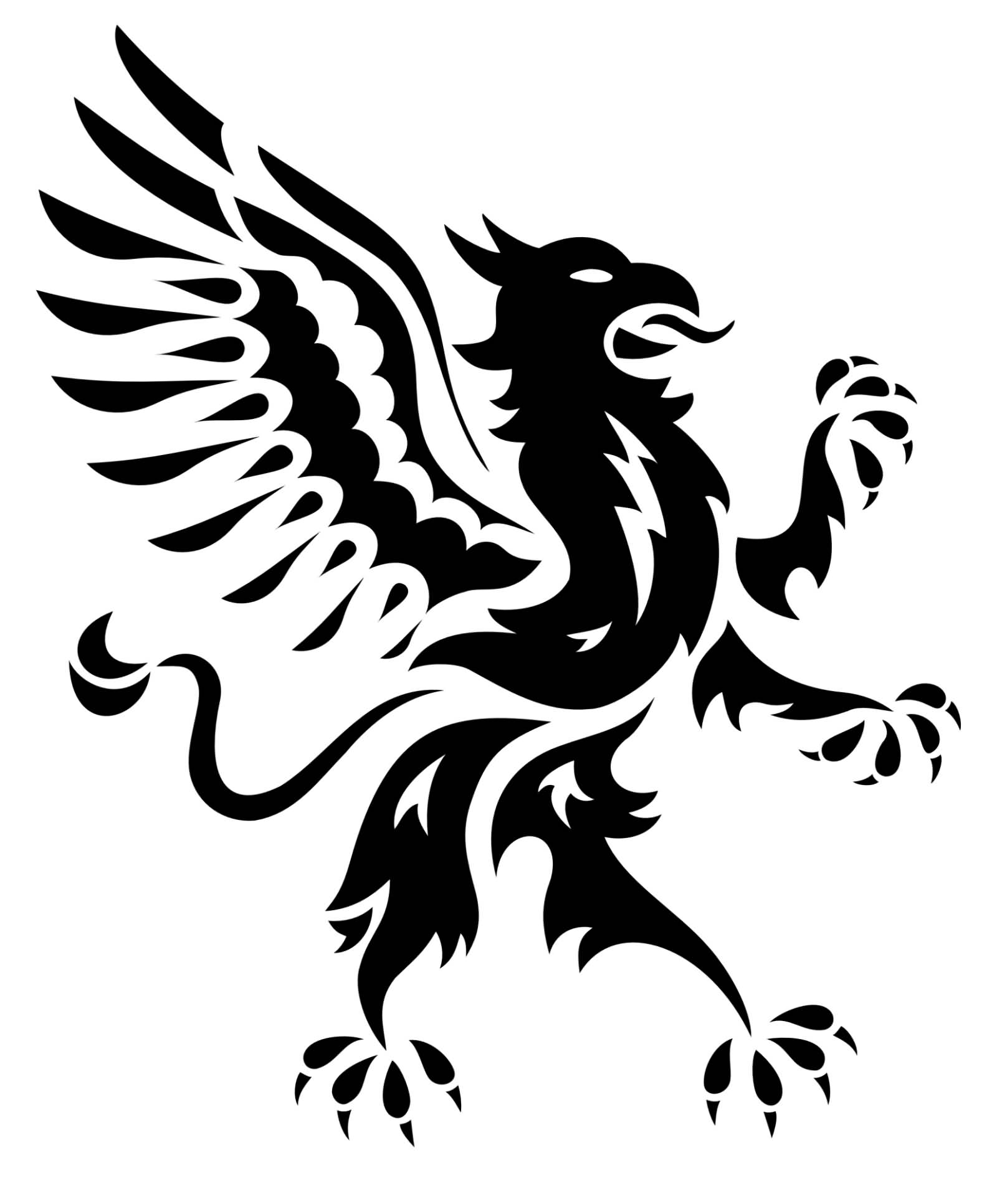 Extremely nice tribal griffin tattoo design for The griffin