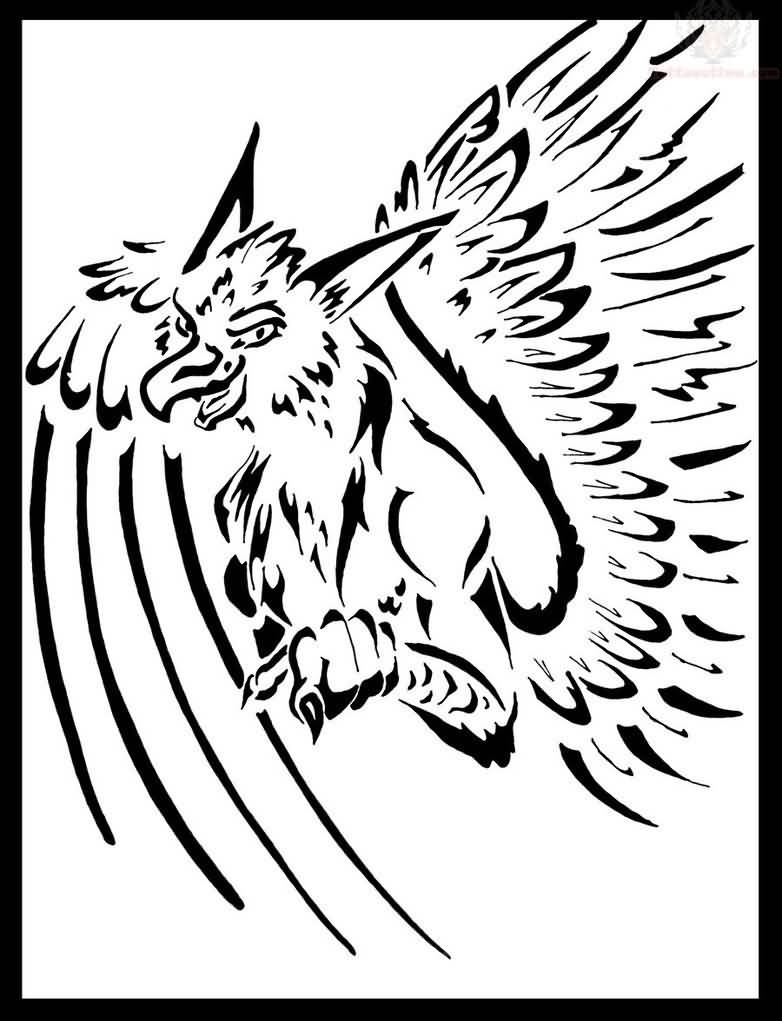 Tribal-Tattoos Happy-Griffin-Tribal-Tattoo-Design