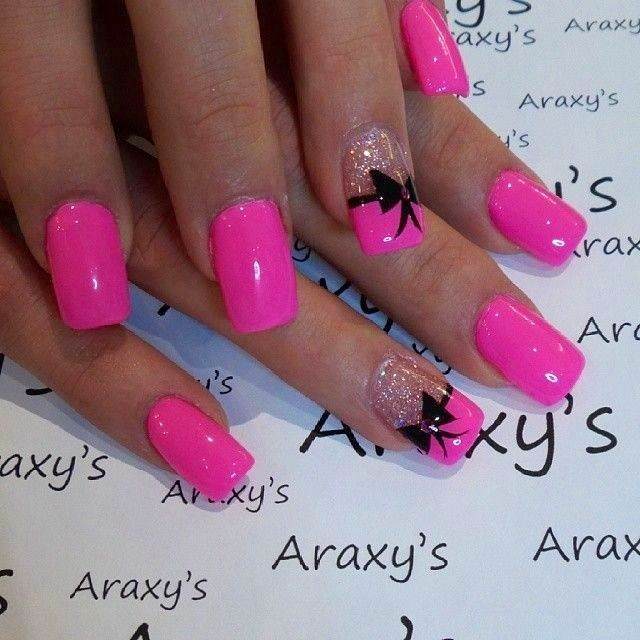 Hot Nail Designs: 60 Best Pink Acrylic Nail Art Designs