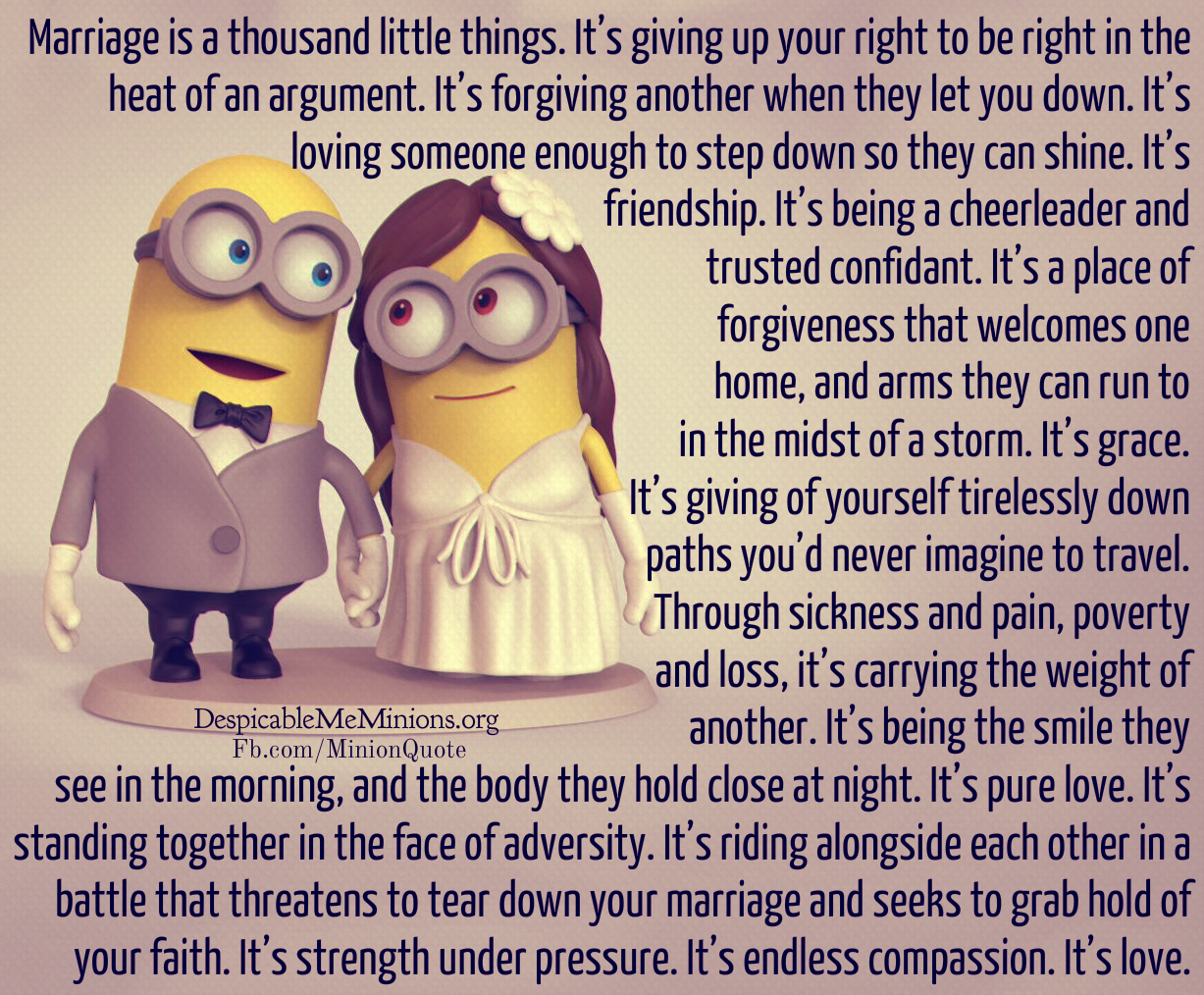 MARRIAGE IS A THOUSAND LITTLE THINGS It s giving up your right to be right in