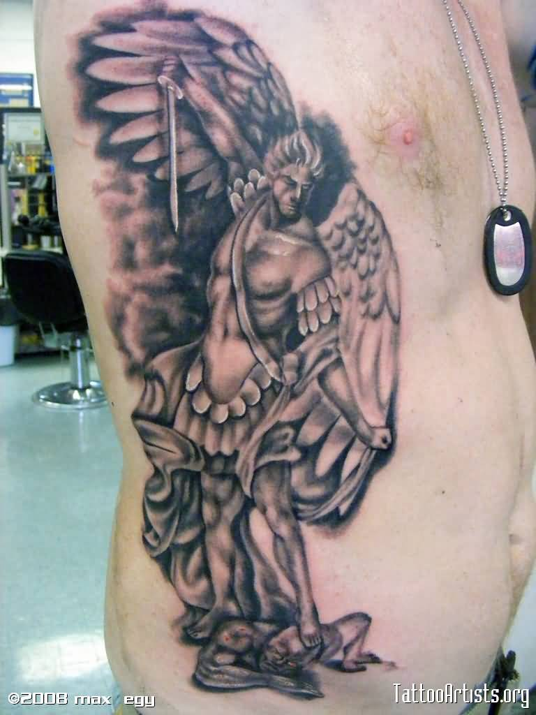 50 wonderful archangel tattoos. Black Bedroom Furniture Sets. Home Design Ideas