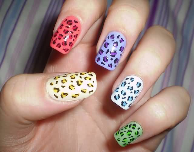 Pink nails with accent leopard print nail art design 55 latest leopard print nail art design ideas for trendy girls prinsesfo Gallery
