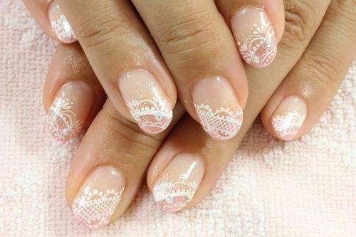 50 latest lace nail art design ideas - Nail art nude ...