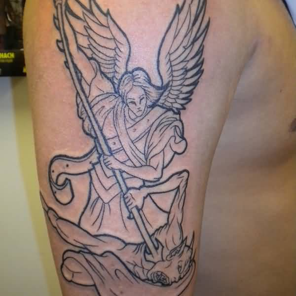 32+ Amazing Half Sleeve Archangel Tattoos