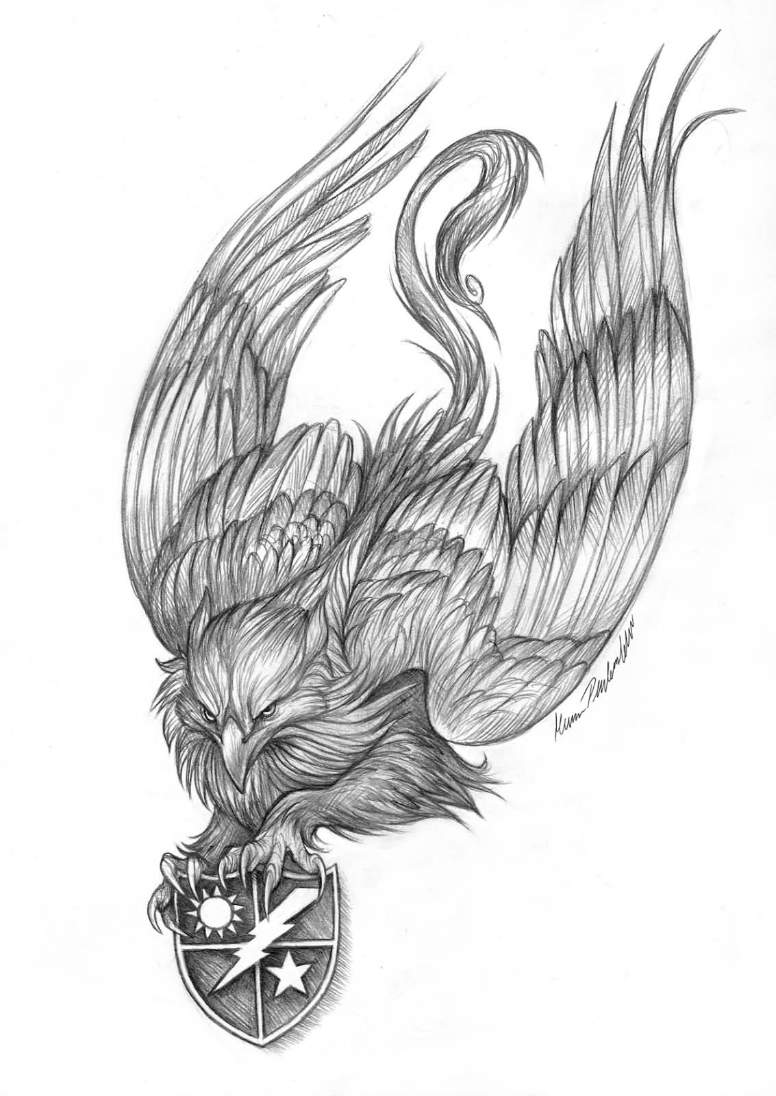 35 Mind Blowing Griffin Tattoo Designs