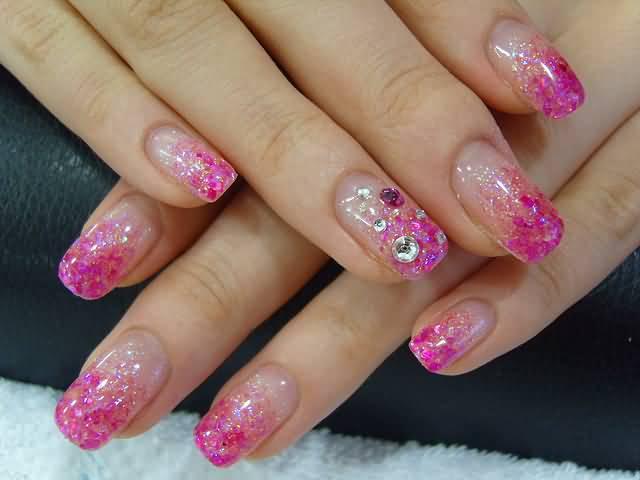 50 most stylish acrylic nail art design ideas pink acrylic nail art design prinsesfo Gallery