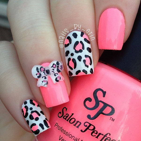 Red Leopard Print Nails 60 Latest Leopard Prin...