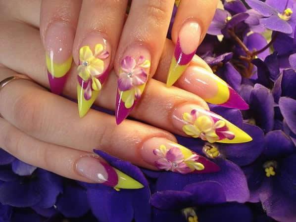Nail Art Flowers 3d Flowers Healthy