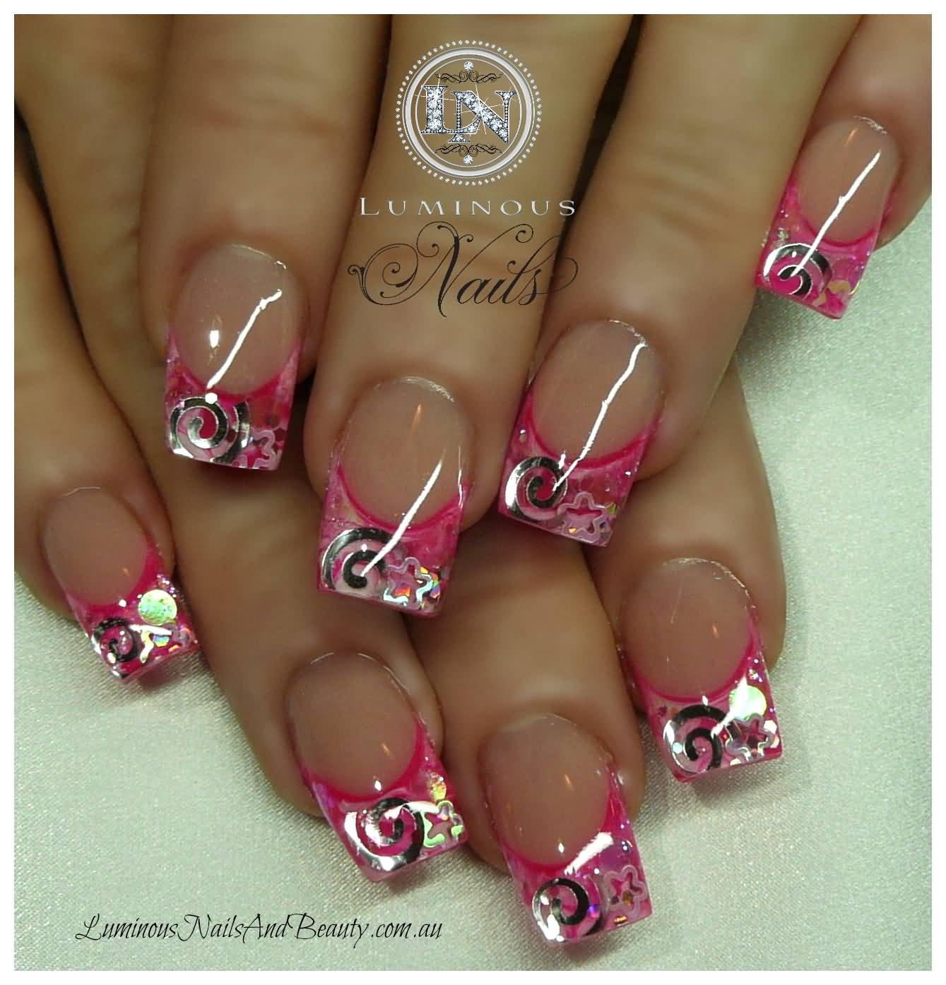 Acrylic nail designs hot pink hot pink zebra acrylic nails nail view images pink glitter acrylic nail design ideas prinsesfo Choice Image