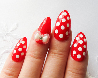 45 most beautiful almond shaped acrylic nail art design ideas