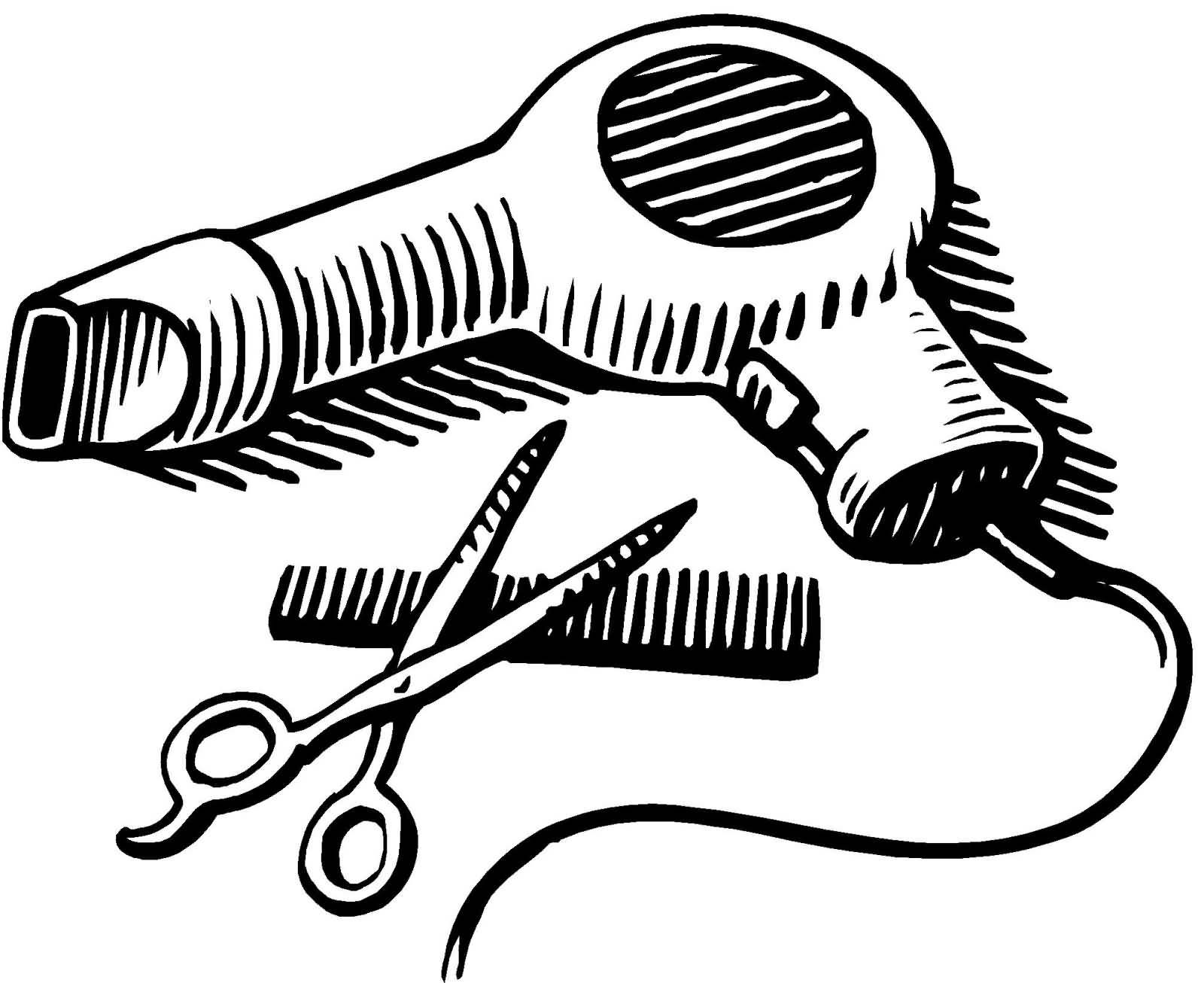 Scissors And Comb Coloring Pages Coloring Pages