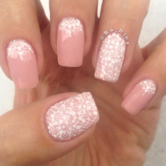 White Nail Ideas: 30 Very Cute White Lace Nail Art Design Ideas