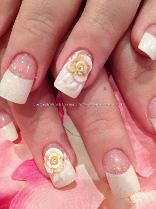 40 latest 3d acrylic paint nail art design ideas white tips 3d acrylic nail art prinsesfo Image collections