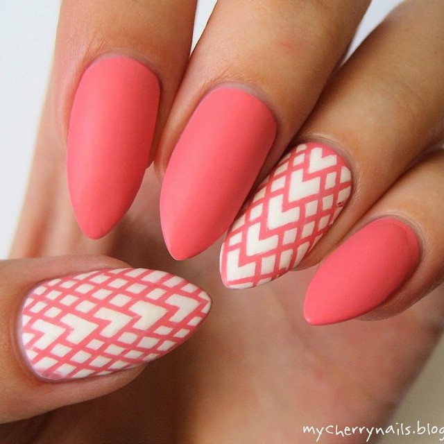 Nail Art Designs Ideas m_french manicure nail art design ideas images005 Amazing Pink Matte Nail Design