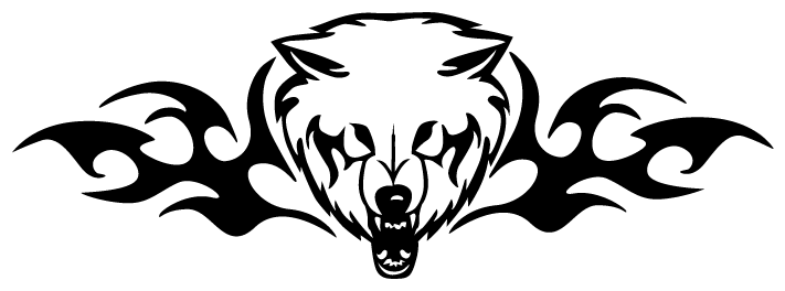 e3b7a300d99a4 Angry Polar Bear Head With Tribal Designs Tattoo