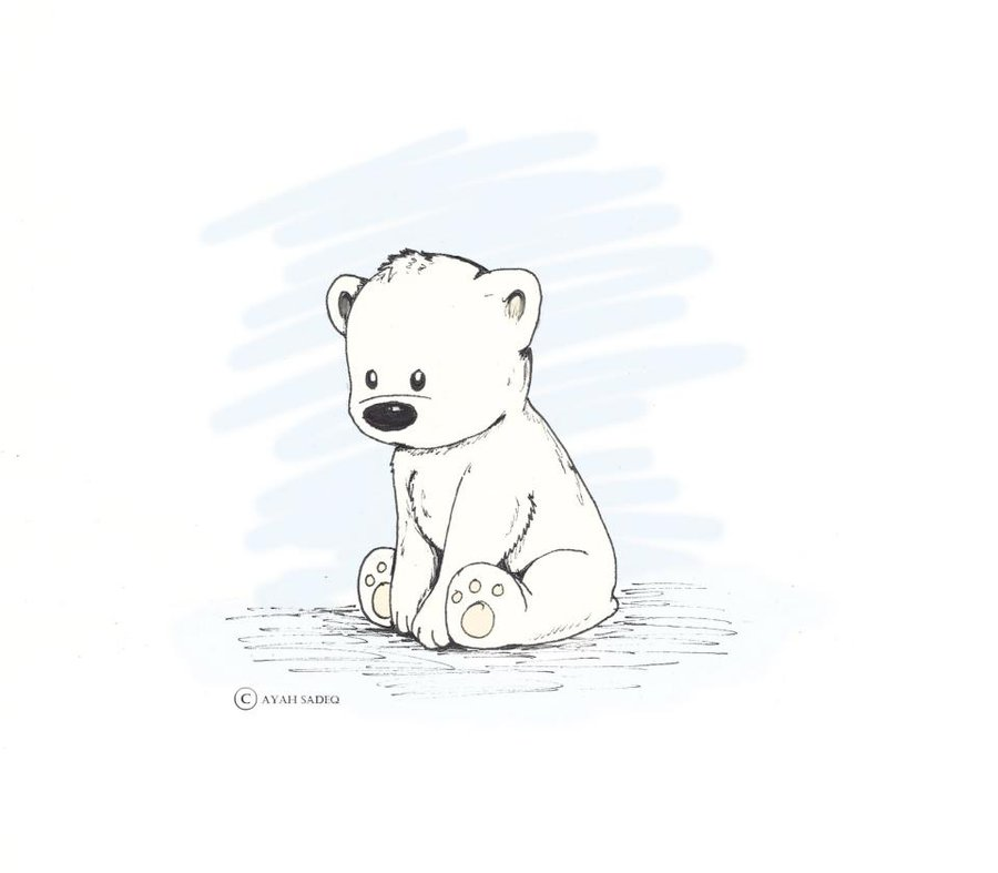 Baby Bear Line Tattoo