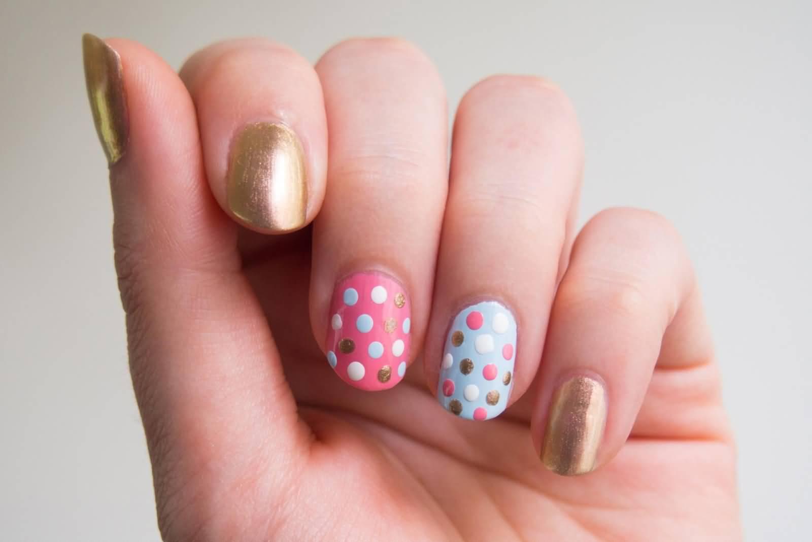 Beautiful polka dots nail design prinsesfo Choice Image