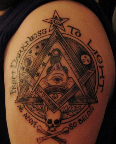 20 Incredible Masonic Tattoos On Shoulder