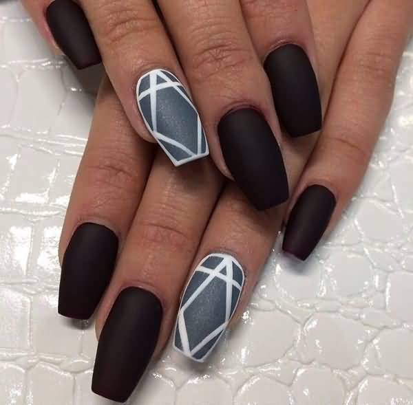55most Stylish Matte Nail Art Designs