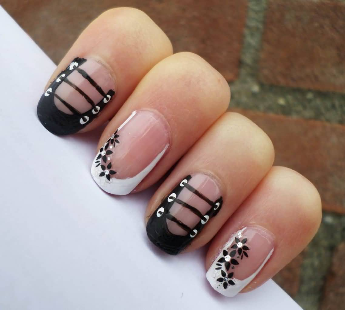 50 Beautiful Stylish And Trendy Nail Art Designs For: 50 Most Stylish Corset Nail Art Designs