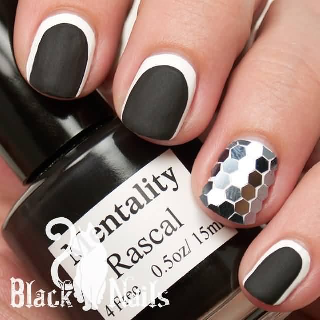 Matte Black Glitter Nail Polish: 50 Most Beautiful Matte Nail Art Design Ideas For Trendy Girls