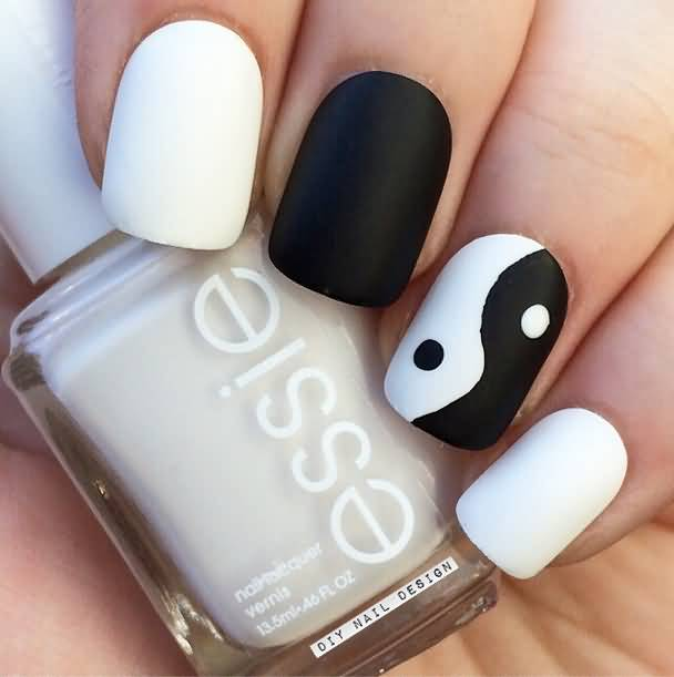 Black And White Nail Design Tumblr ~ Moon print nail art tumblr