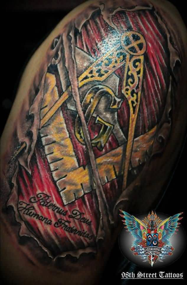 14 Masonic Half Sleeve Tattoos