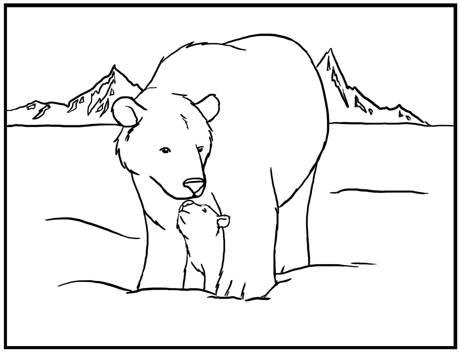polar bear outline Free polar bears papers, essays, and research papers.