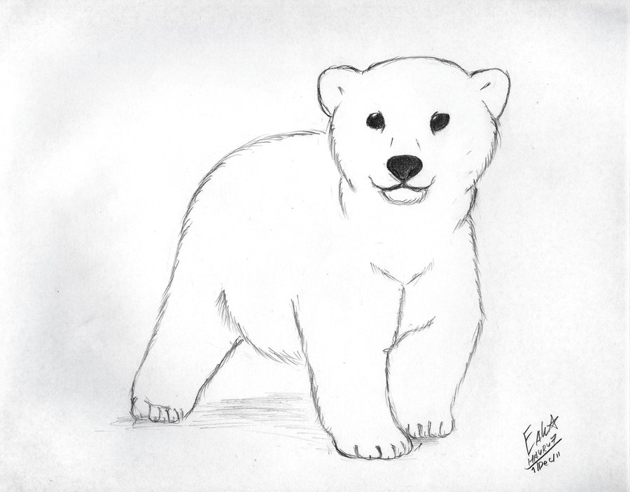 Cute Polar Bear Baby Tattoo Design By Hauru7