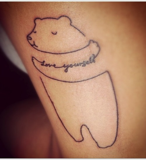 Love Tattoo Outlines: 21+ Cute Polar Bear Tattoos