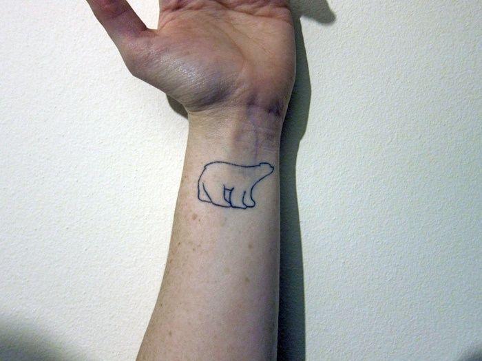 Bear Tattoo Small: 21+ Cute Polar Bear Tattoos