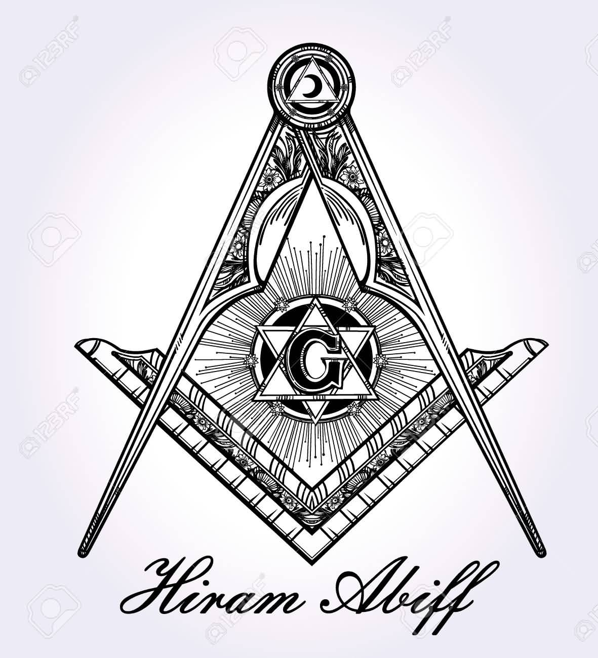Masonic Symbol Tattoo Design By Hiram Aliff