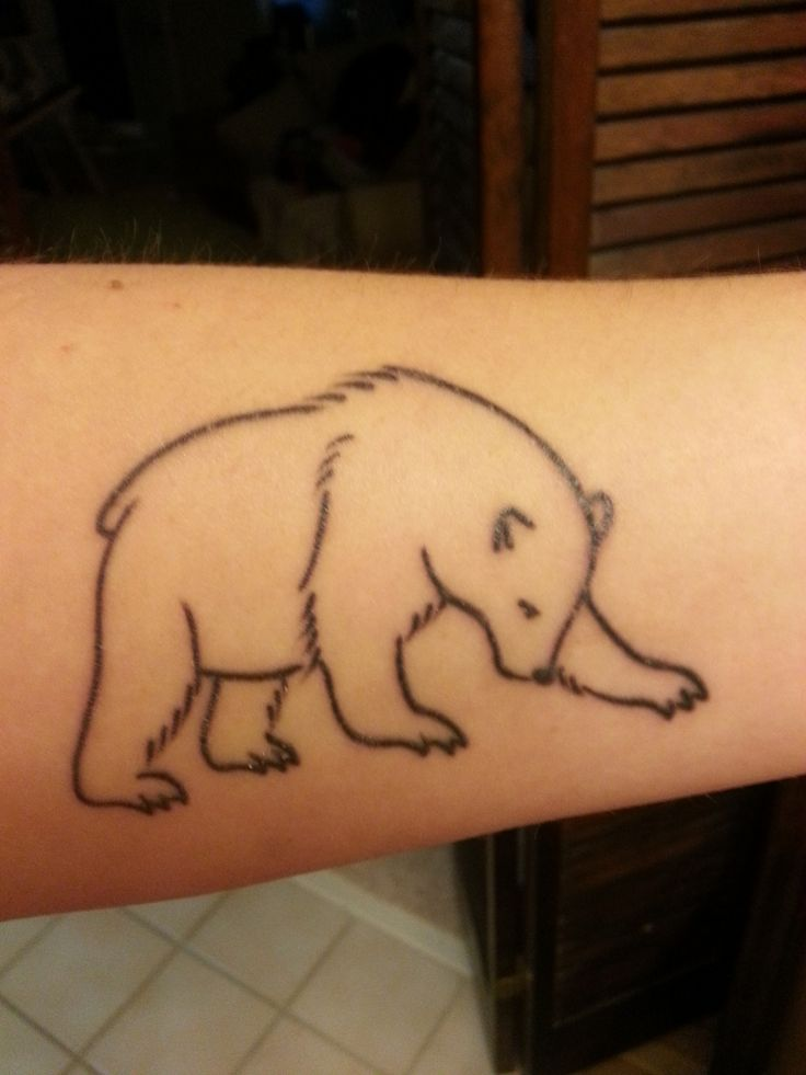 22 outline polar bear tattoos. Black Bedroom Furniture Sets. Home Design Ideas