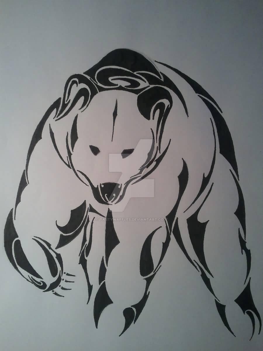 29+ Amazing Polar Bear Tattoo Designs Bear Design