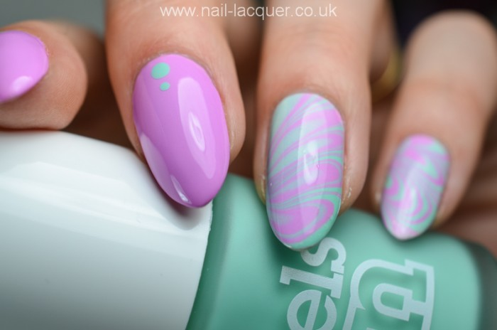 57 beautiful marble nail art design ideas purple and green marble nail art prinsesfo Images