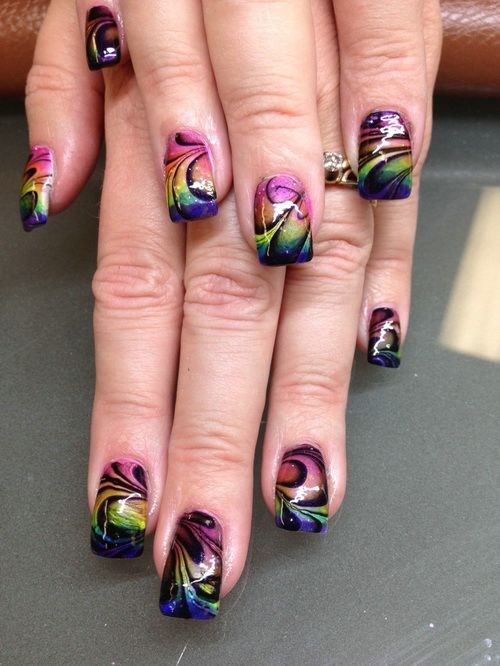 Art Designs: 57+ Beautiful Marble Nail Art Design Ideas