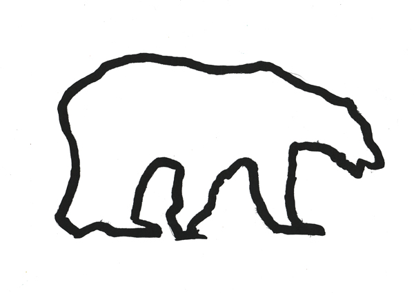 Simple Line Art Designs : 22 outline polar bear tattoos