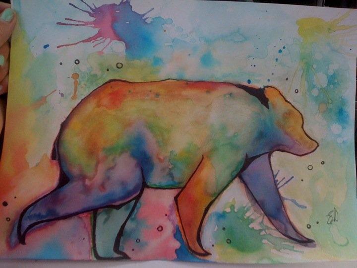 60+ Nice Polar Bear Tattoos Watercolor Bear Tattoo