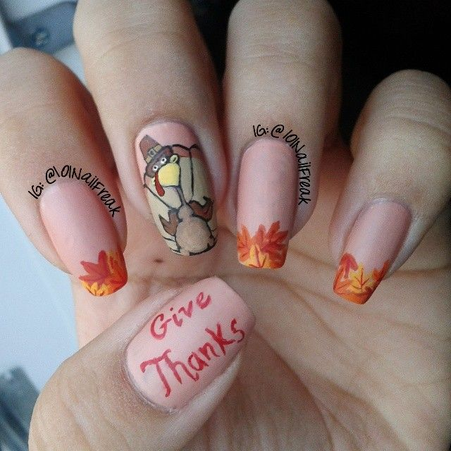 25 latest thanksgiving nail art designs adorable thanksgiving nail art prinsesfo Gallery