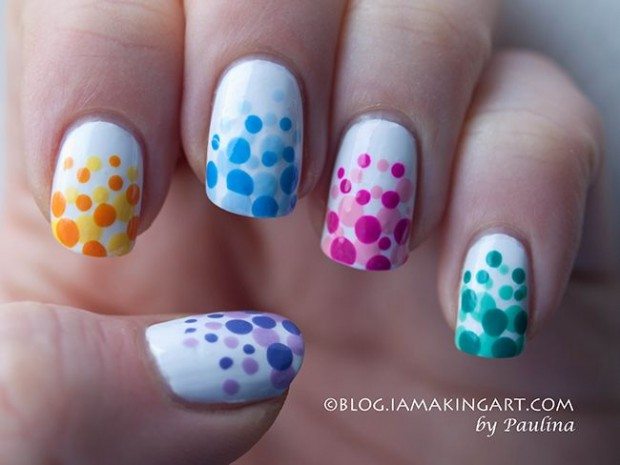 Amazing Polka Dots Nail Design Idea