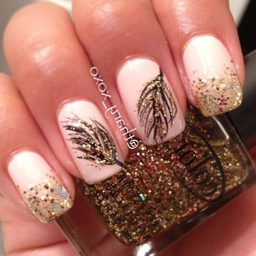 55+ Most Stylish Feather Nail Art Designs
