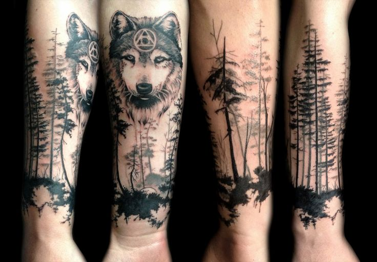 43 Wonderful Forest Tattoos