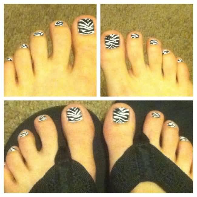 Nail Art Zebra Stripes: 20+ Most Beautiful Zebra Print Nail Art Designs For Toe