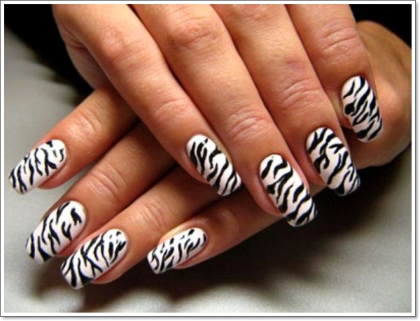 - Black And White Zebra Print Nail Art