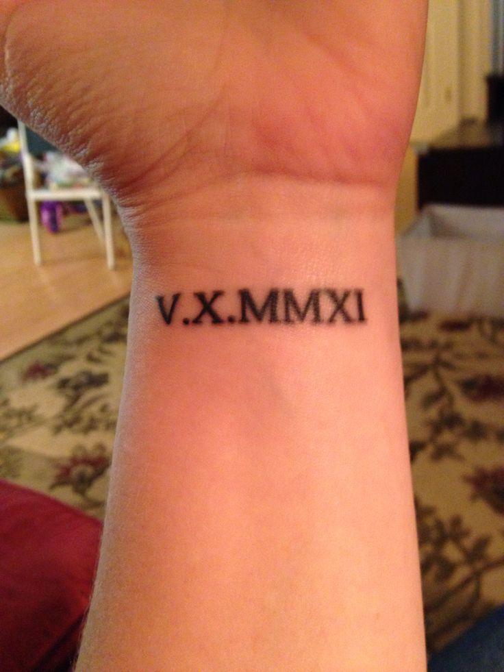 51 roman numerals wrist tattoos for Roman tattoo ideas