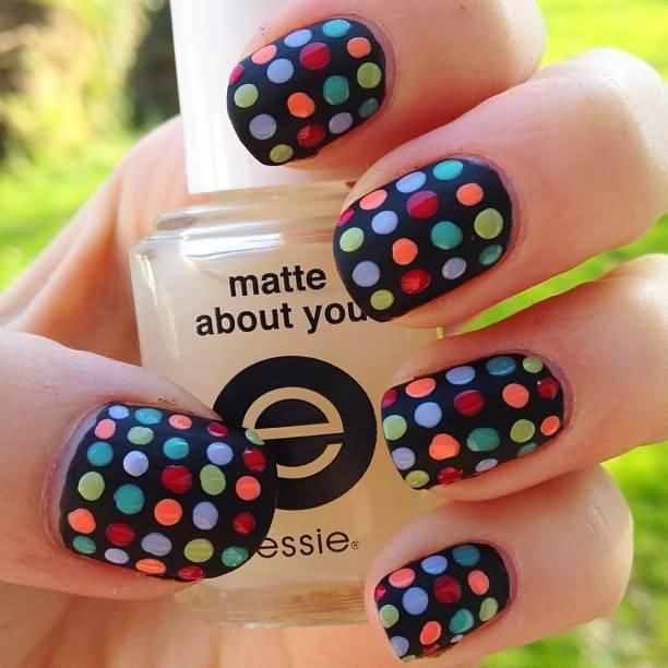 Polka Dots  nail art designs